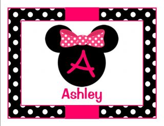 Personalized Birthday Minnie Mouse Thank You Note Cards