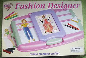 FASHION DESIGNER Vintage FASHION PLATES DRAWING Rubbing Playset Toy