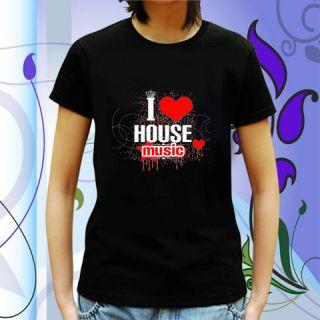 New David Guetta I Love House Music Women T Shirt s 2XL