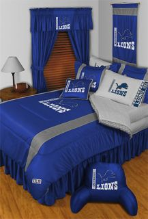 NFL Detroit Lions Football Twin Bedding Comforter Set