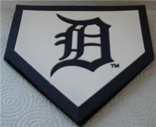 Brand New MLB DETROIT TIGERS Drink Coasters Home plate Baseball
