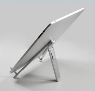 Aluminum Metal Silver Desktop Holder Compass Mobile Stand for iPad