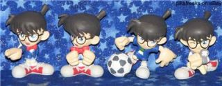 Lot of 10 Unique Case Closed Detective Conan Figure Collection PVC