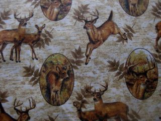 Curtain Valance Deer Lodge Rustic Antler Buck Bark Fern