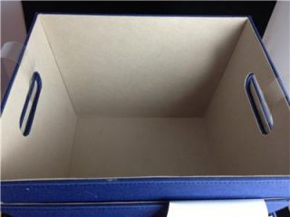New Merrick Set of 3 Decorative Storage Bins Blue Khaki 13x11x9