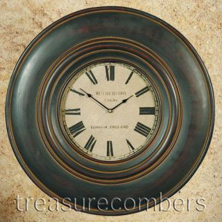 Large Rutherford Wood Wall Clock Home Decor Art