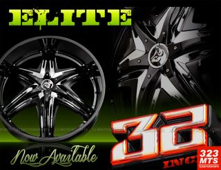 32 Diablo Elite Rims Hummer H2 Escalade Yukon Wheels Diablo Elite