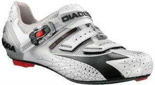 Diadora Jet Racer Carbon Sole Road Bike Cycling Shoes EU 42 Silver