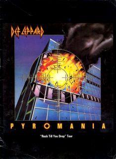 def leppard 1983 pyromania tour concert program book