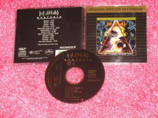 DEF LEPPARD   Hysteria   Rare MFSL 24k GOLD Disc CD Ultradisc Remaster