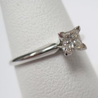 Huge Real 0 25ctw Princess Cut Diamond White Gold Anniversary Ring