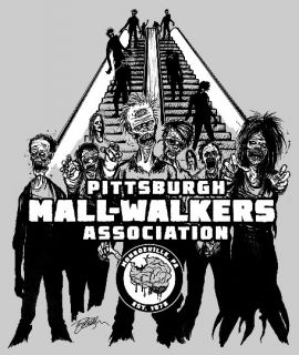 Walkers Association Zombie T Shirt Monroeville Mall Dawn Dead