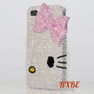 Swarovski Crystal Bling Hello Kitty Diamond Case Cover for iphone 4 4s