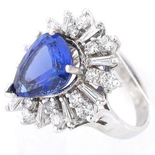 14k Pear Shaped Tanzanite Diamond Ring Tanzanite Diamond Ring 6 41 cts