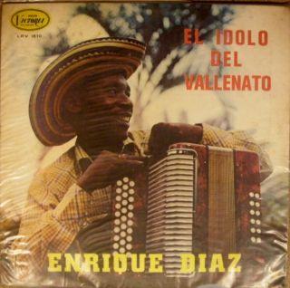 LP Latin Enrique Diaz El Idolo Del Vallenato Merengue Paseo Pasaje LPV