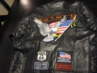 Diamond Plate Genuine Biker Leather Jacket