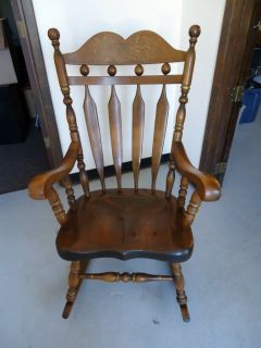 Ethan Allen Pine Rocking Chair
