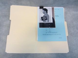 HOUSEWIVES SCREEN USED MIKE DELFINO CASE FILES & EP 120 PARTIAL SCRIPT