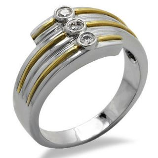 14k White Gold Mens Two Tone Diamond Ring Band 0 20 Ct