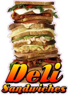28 Deli Sandwiches Bar Restaurant Concession Trailer Vinyl Food Menu