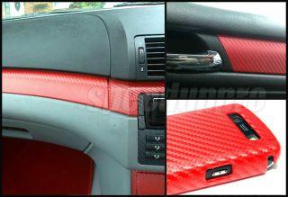 roll 12 x 50 3d twill weave carbon fiber vinyl sheet red color click