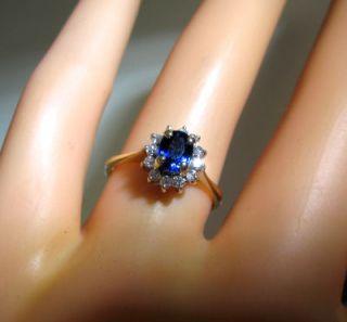 78 Off Sapphire Diamond Princess Diana Kate Middleton 14k Ring