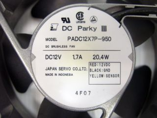 DC Parky III PADC12X7P 950 DC Brushless Fan Set of 2