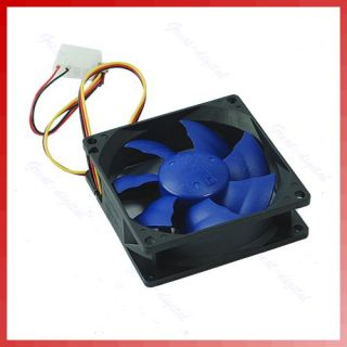 Brushless DC Cooling Cooler Fan 12V 7 Blades 80x80x25mm Hydro Bearing