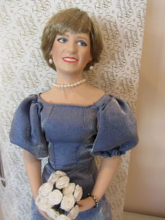 Princess Diana In Loving Memory Queen of Hearts Porcelain Doll