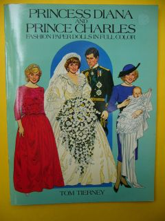 PRINCESS DIANA PRINCE CHARLES Paper Doll Book Cut Outs Tom Tierney un