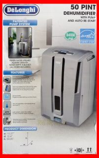 delonghi dd50p 50 pint energy star dehumidifier with patented pump