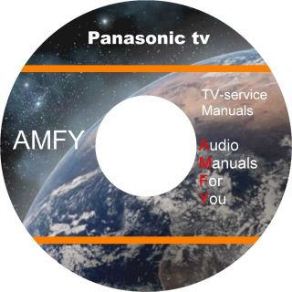 Panasonic TV video service manuals owners manuals on 2 dvd all in pdf