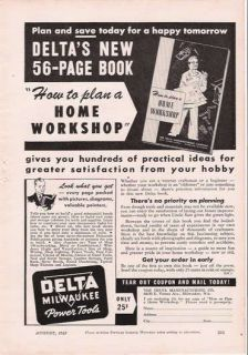 1943 Vintage Ad Delta Milwaukee Power Tools Book WW II