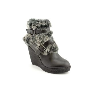 Baby Phat Demaris Womens Size 10 Black Leather Winter Boots UK 7 5 EU
