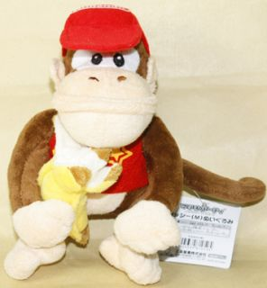 Diddy Kong Eat Banana 6 15cm Super Mario Bros Plush Doll