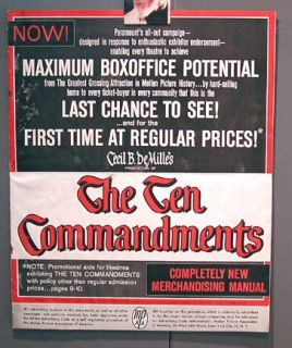 1960 cecil b demille the ten commandments press book merchandising