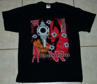 VELVET REVOLVER 2005 Concert Tour T Shirt L slash guns roses stone