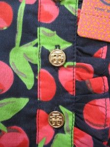 Tory Burch Girls Kids Cherry Deneuve Dress Size Small 4 5 NWT Sold Out