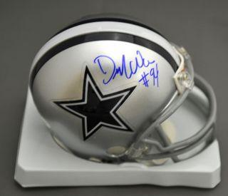 Demarcus Ware Signed Autographed Dallas Cowboys Mini Helmet JSA