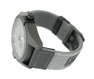 Diesel DZ1488 Grey Round Dial Grey Canvas Mens Watch