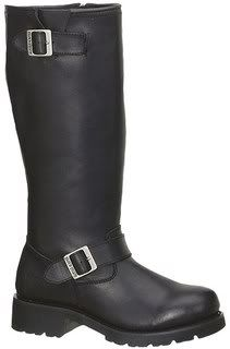 Road Hog© 16 Tall Engineer Black Leather Motorcycle Biker Boots 1443