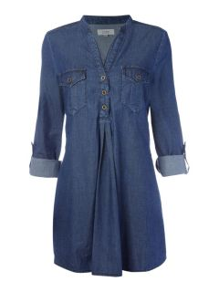 Linea Weekend Casual Denim Tunic Shirt in Blue