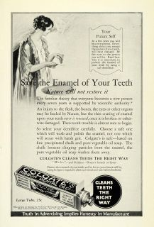 1923 Ad Colgate Toothpaste Tube Hygiene Brush Dental Care Enamel