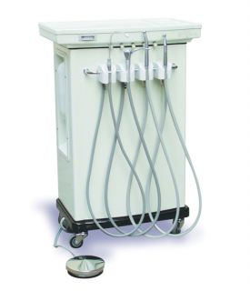 Deluxe Portable Dental Unit Equipment Delivery Cart X