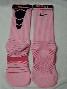 Custom Pink Nike Elite Preformance Football Socks with Black Stripes