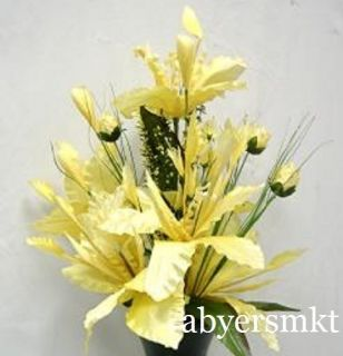 27 inch Floral Yellow Silk Flowers Artificial Plants Wedding