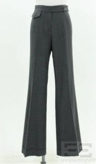 Derek Lam Charcoal Grey Wool Cuffed Trouser Pants Size 8