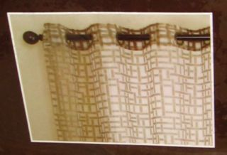 Allen Roth Dilworth Grommet Top Window Panel Drape Curtain Sheer Wheat