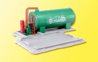 Truck Fueling Facility w Pump Tank and Spill Dike Kit HO Scale