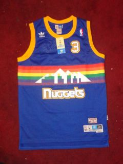 Denver Nuggets Soul Swingman 1987 88 Road Rainbow Allen Iverson Jersey